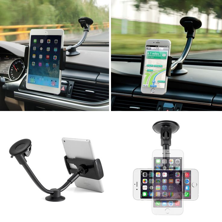 """Universal 360 Degree 2in1 Car Windshield Mount Holder Stand For Mobile Tablet GPS 7"""""""