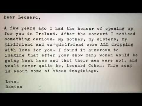 """An homage to Leonard Cohen: Damien Rice Performs """"Back To Her Man"""" - Cohencentric: Leonard Cohen Considered"""