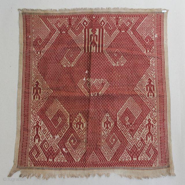 Indonesia, South Sumatra, Lampung, Tampan ceremonial cloth, late 19th century