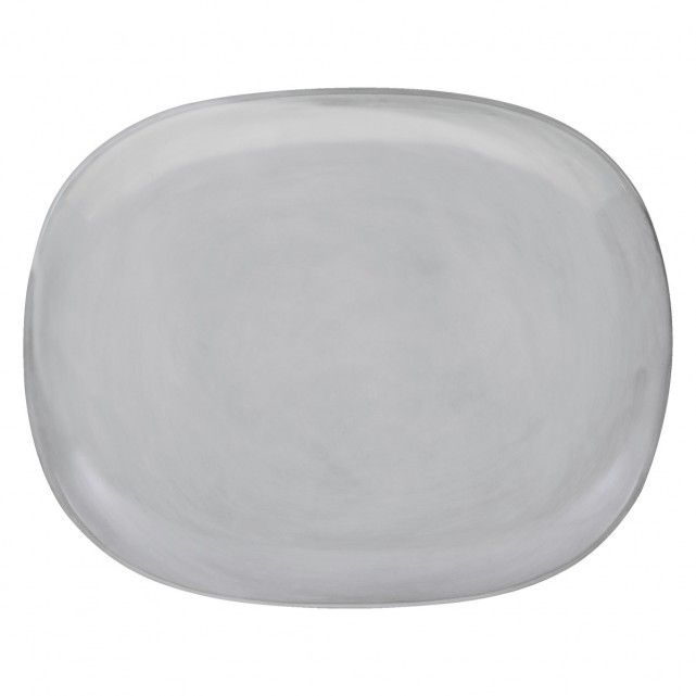 COURBE Light grey side plate D18cm
