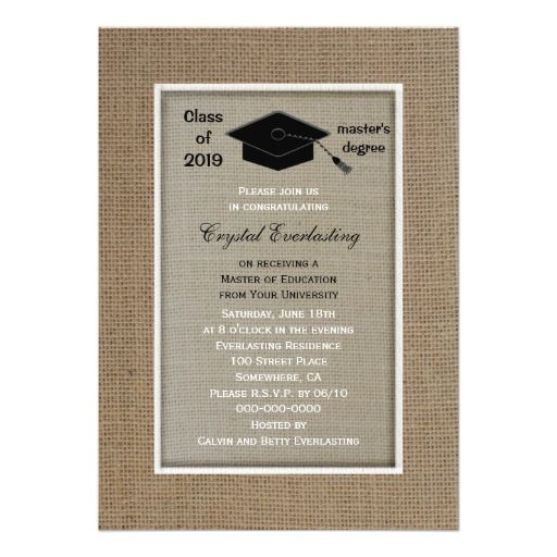 Masters Degree Graduation Invitation