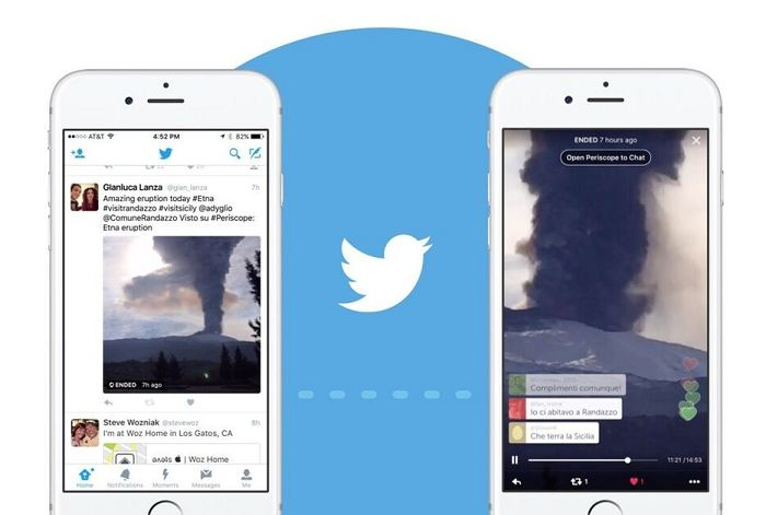 Les vidéos en direct de Periscope seront intégrées dans les tweets