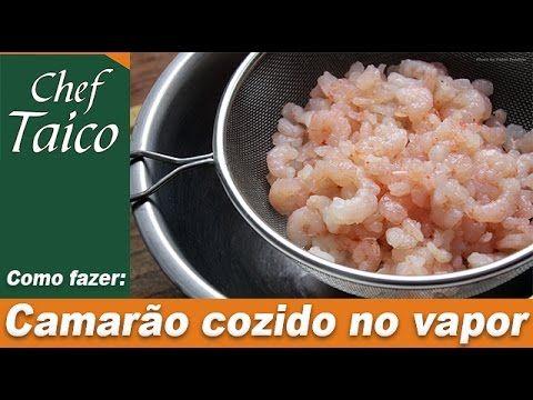 Camarão cozido no vapor
