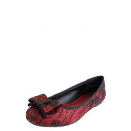 Bamboo Sean-05 Bow Lace Overlay Flats
