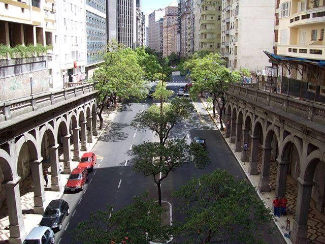 Viaduto Otavio Rocha Na Avenida Borges De Medeiros