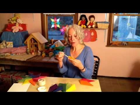 Video Tutorial: How to Make Waldorf Paper Window Stars  Kite paper available from www.bellalunatoys.com