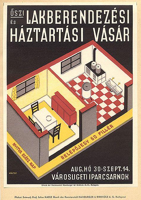 """Poster for """"Lakberendezési Háztartási Vásár,"""" 190"""