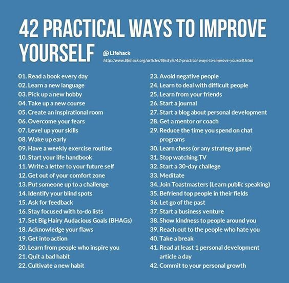 Become a better version of yourself! Here are some great tips to get you started. (http://media-cache-ec0.pinimg.com/originals/65/02/a5/6502a57d65f0b4053a096489225ef150.jpg):