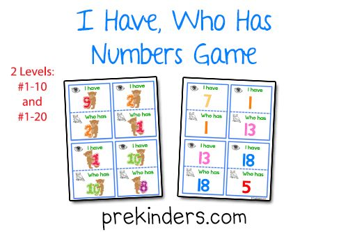 """""""I Have, Who Has"""" Numbers Game"""
