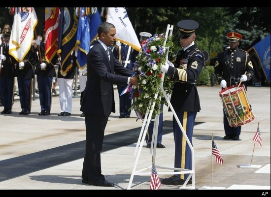 obama memorial day pictures