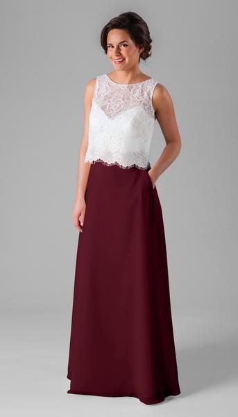 Kennedy Blue Two Piece Bridesmaid Dress