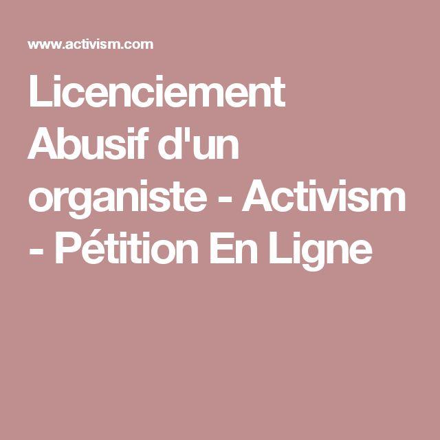 Licenciement Abusif d'un organiste - Activism - Pétition En Ligne