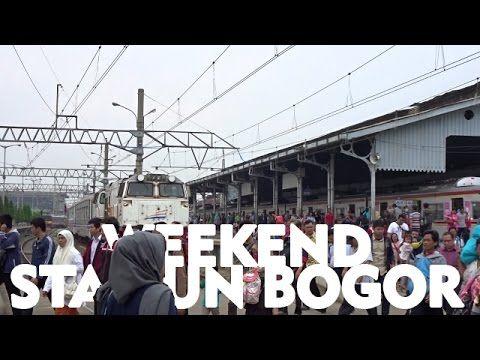 Mantap!! Weekend Pagi sampai Malam Stasiun Bogor Super Sibuk