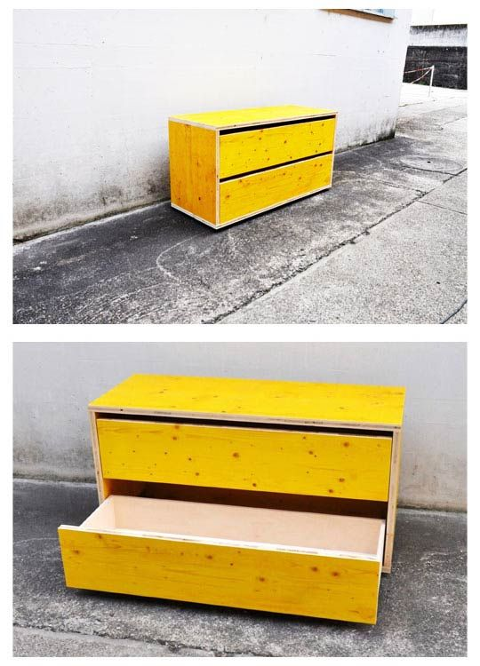 sideboard made of formwork panels