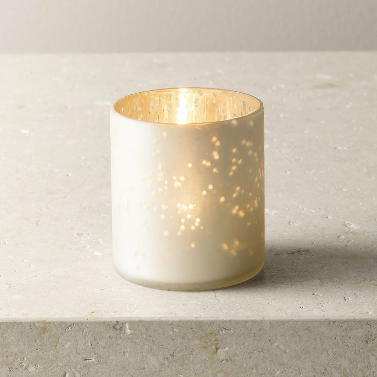 Frosted Mercury Pot | The White Company