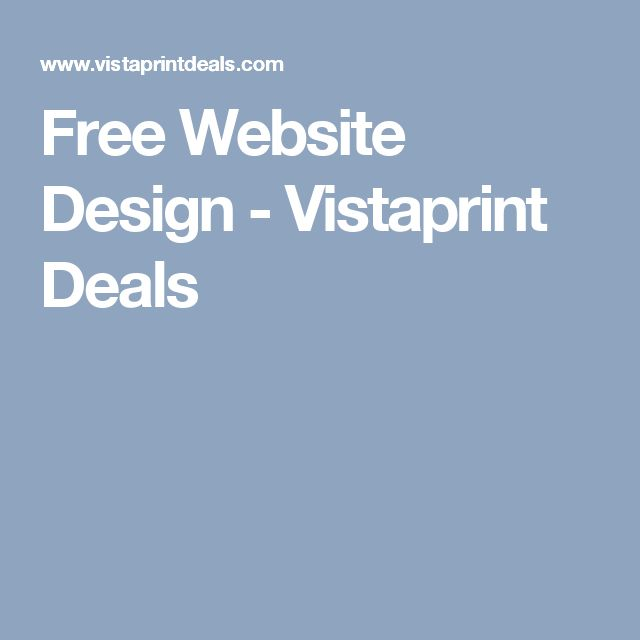 Free Website Design - Vistaprint Deals