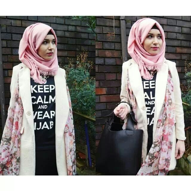 Keep calm Muslimah hijab inspiration