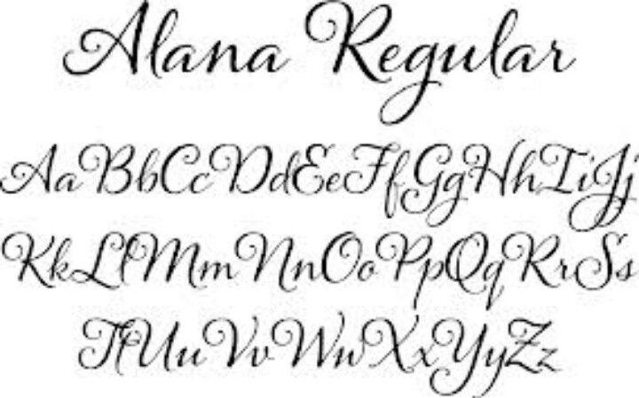 Alana font alphabet calligraphy pinterest fonts Calligraphy text
