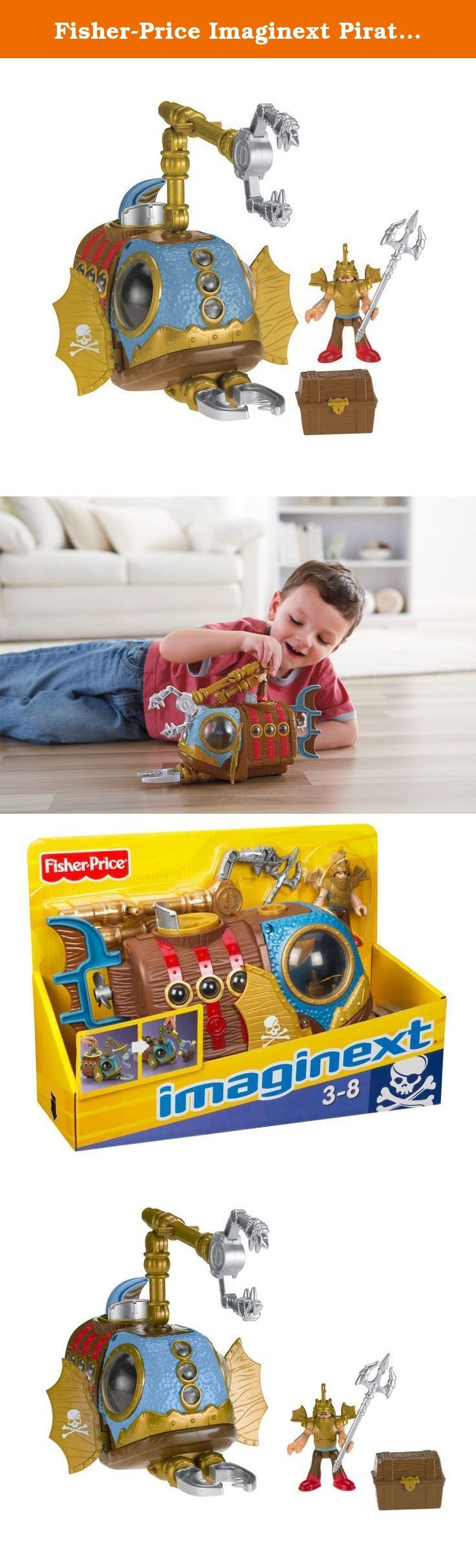 Fisher-Price Imaginext Pirate Sub. Your little ones are in command of all that happens in this underwater treasure hunt Imagination is limitless with the Pirate Sub and its awesome mechanical claw View larger Pirate Sub will immerse kids in a fun, exciting world of pirates and buried treasure Take Young Buccaneers on a Voyage to the Bottom of the Sea Shaped just like an angler fish, this sub takes the battle between skeleton pirates and human pirates to the deepest, darkest depths of the...
