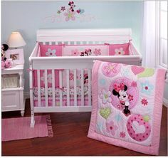 Minnie+Mouse+Baby+Bedding+Sets,++Cot+Set+bedding,+Minnie+Mouse+Baby+Crib+Set+Bedding+3+piece!