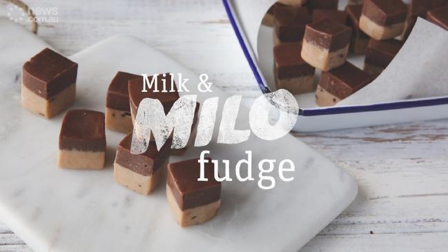 Milo recipes by Tristan Lutze: Milo Fudge, Milo cheesecake, Milo pancakes