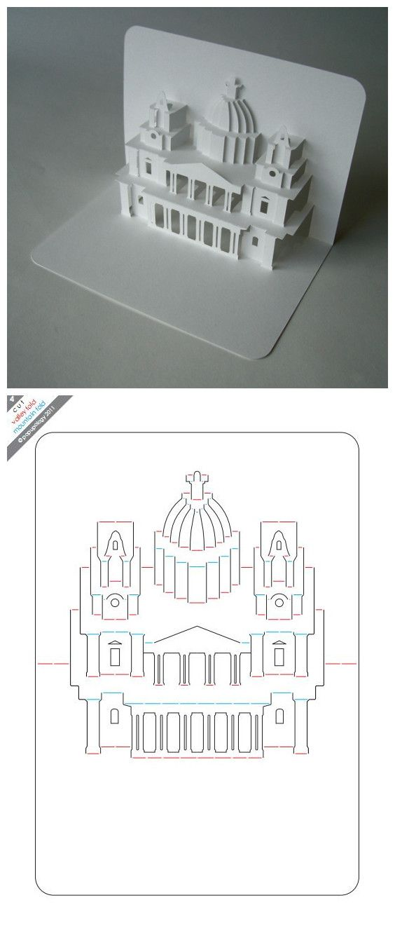 DIY 3D card / fold and pop up / Basilica Most - une autre carte surgissante des plus fameuses :) Merci.
