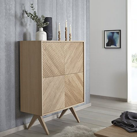Buy Bethan Gray for John Lewis Newman 4-Door Tall Sideboard, Oak Online at johnlewis.com