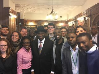 """""""I once said that I was not elected President of Nigeria to spread poverty I was elected to generate and spread wealth'- GEJ   Whatsapp / Call 2349034421467 or 2348063807769 For Lovablevibes Music Promotion   Former Nigerian President Dr. Goodluck Jonathan Monday spoke at the Oxford Union succeeding US Secretary of State John Kerry who spoke at the same event in May this year.Speaking on the theme 'Fostering Youth Entrepreneurship Dr. Jonathan whose speech was streamed live said: """"I once…"""