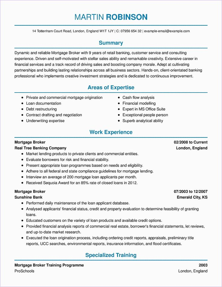 Mortgage Loan Officer Resume Real estate agent business