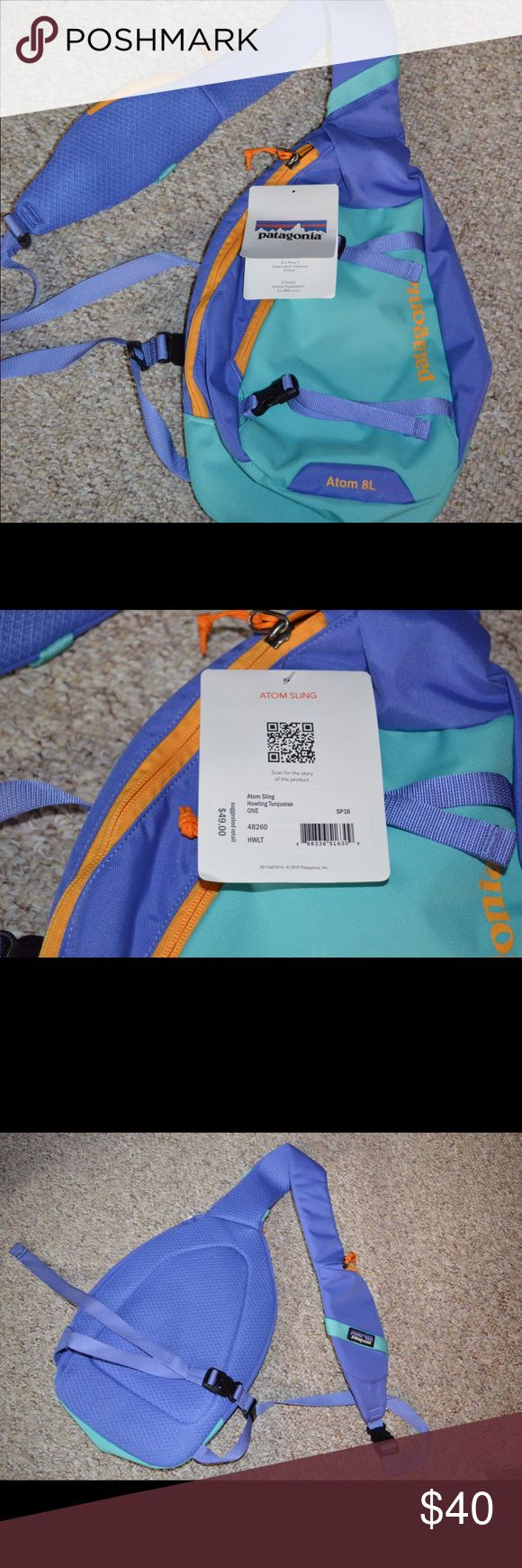 New With Tags Patagonia Atom Sling Patagonia Atom 8l Sling, Colors Aqua  Blue Green And