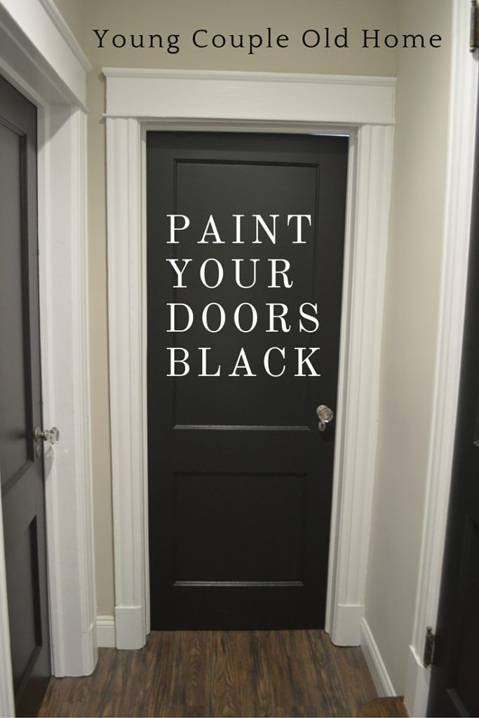 """Paint It Black! Bold, black paint can turn any entrance, hallway or closet door into an architectural statement. See how to make a black door work in your own interior space. In our main entrance, we have a tiny """"mud room"""" if you will, with the original french door that had accumulated many years and […]"""