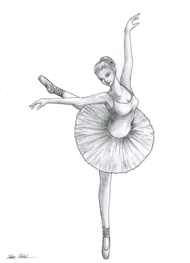 Image result for sketches of a ballerina
