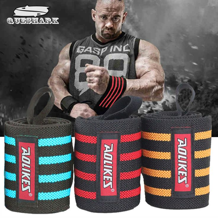 Free Delivery 2Pcs 60x8CM Powerlifting Sport Wristband Gym Fitness Dumbbell Barbell Crossfit Hand Bands Weight Lifting Wrist Wrap Support //Price: $16 & FREE Shipping to USA // www.fitnessamerica.store //    #homefitness