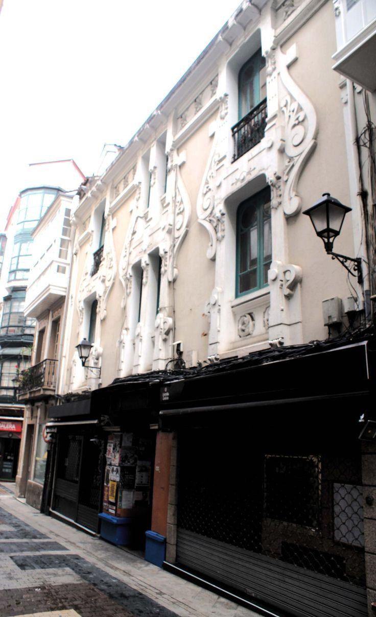Fachada casa galera 10 12 modernismo en a coru a for Inmobiliarias coruna