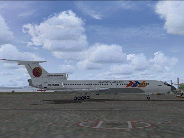 Armenian Airlines-Tu154B