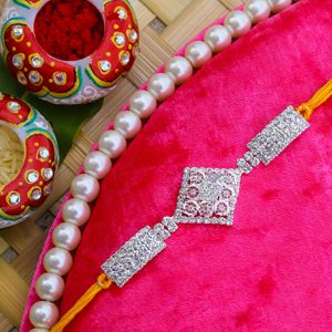 Eye Catching Diamond Jewel Rakhi