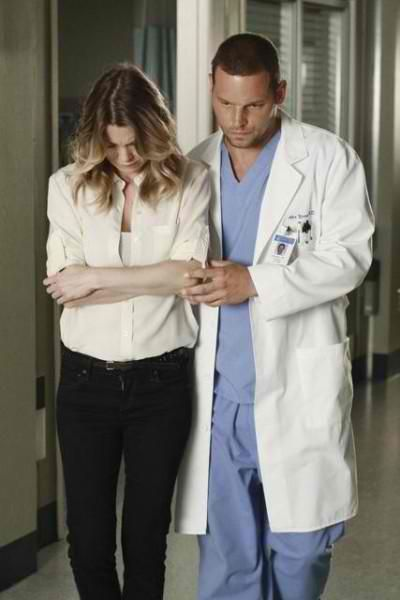 "I love how Alex is there for Meredith!  Loved this moment...AFTER ALL...  She said, ""I know..."" and he took care of her when McDreamy didn't...Gotta Love Karev!"