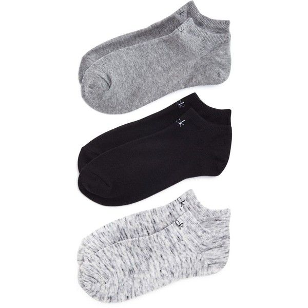 Calvin Klein Hosiery Logo Ankle Socks, Set of 3 (24 CAD) ❤ liked on Polyvore featuring intimates, hosiery, socks, grays, short socks, logo socks, calvin klein, ankle socks and gray ankle socks