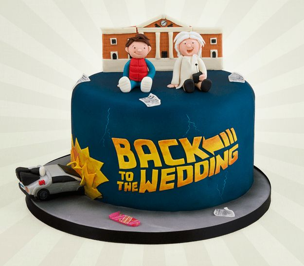 Back To The Future. The Nerdiest Wedding Cakes You'll Ever Want To Eat • BoredBug