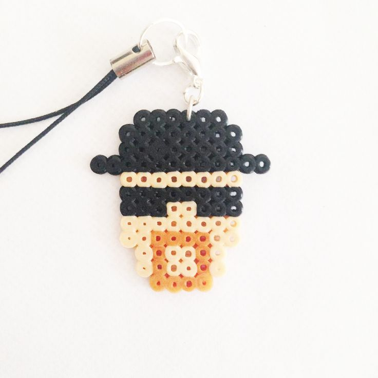 Heisenberg - Breaking Bad perler bead phonestrap by Pixel Empire