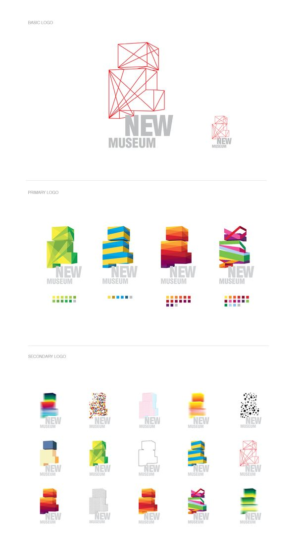 Love, love this idea! New Museum (Student Branding Project) by wenkang kan, via Behance #Generative