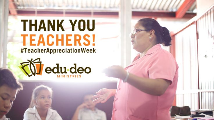 It's #TeacherAppreciationWeek! We give thanks to God for all the amazing teachers that continually impact children - both locally and globally.