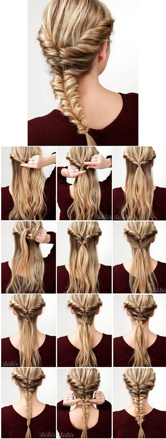 A great guide for a super braiding hairstyle. Step by step you come to the result here.