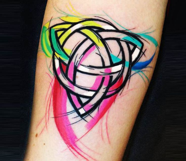 Cubism tattoo by Sebastian Barone