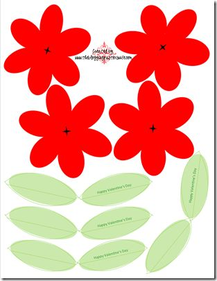 Sucker Flowers for Valentine\u0027s Day Printables