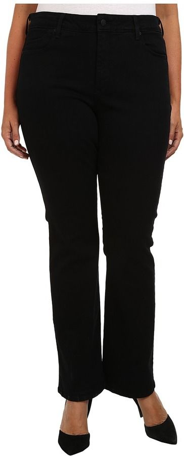 NYDJ Plus Size - Plus Size Billie Mini Boot in Black Women's Jeans