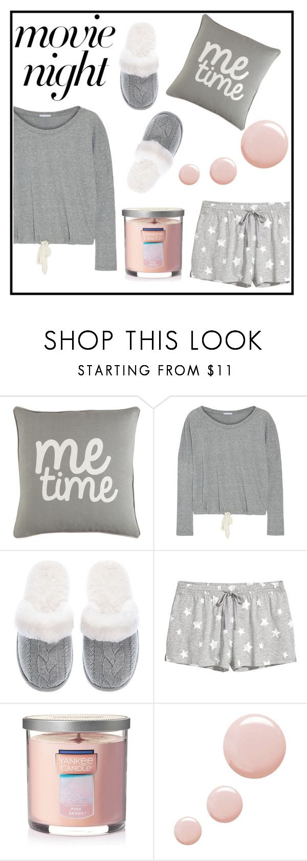 """""""Movie night"""" by diana16101993 ❤ liked on Polyvore featuring Surya, Eberjey, Victoria's Secret, Pijama, Yankee Candle and Topshop"""