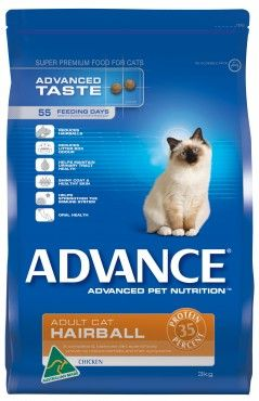Advance Hairball Adult Cat Chicken 3kg - A complete and balanced diet scientifically proven to reduce hairballs and their symptons