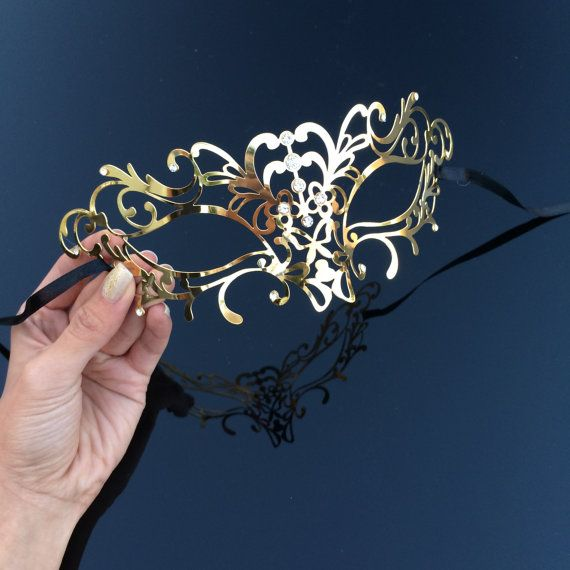 Gold Venetian Vine Masquerade Mask  Vine Mask Made by 4everstore