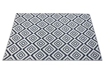 Home :: Rugs & Mats  :: Recycled Cotton Rugs :: Outdoor Floor Mat Blue White Squares
